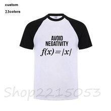 08e563477d96e Evitar A Negatividade Dos Pais do Professor de Matemática Equação Matemática  Shirt Engraçado T-Shirt