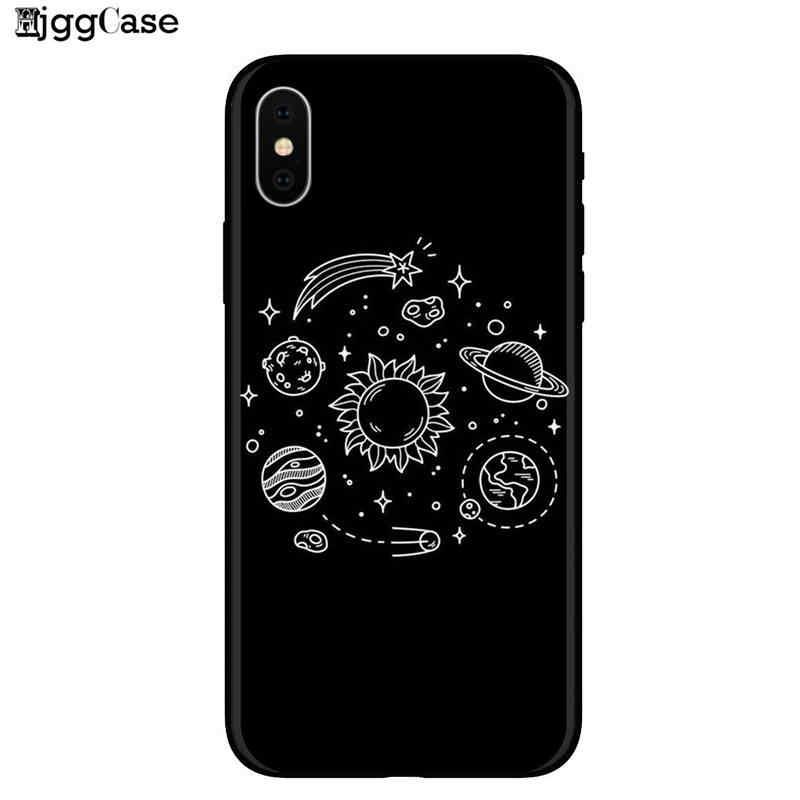 Nieuwste Ruimte Maan Astronaut Telefoon Gevallen Voor iphone 7 8 X Case Voor iphone 6 7 plus XR XS Max Planet Star Frosted soft Cover
