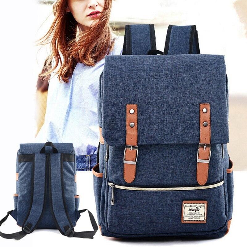 d83e1ca2de15 Adiputent тканевый женский рюкзак школьный мода для девочек подростков  школьные ранцы Рюкзак для подростков большой ёмкость Packbags школы назад