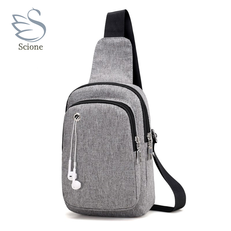 Scione New Arrival 2018 Fashion Waterproof Nylon Crossbody Bags Sling Shoulder Bag Back Pack Travel Small Chest Pack Wallets