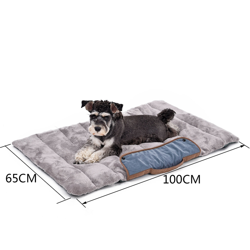 Pet Dog Beds For Dog Foldable Dog Kattematter Myk Bærbar Pet Pute Convenience Carry Valp Big Bed Varm Tykk Reise Essential