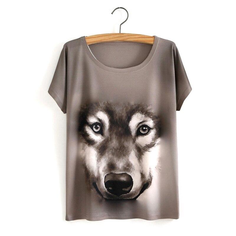 HTB1PKDrOVXXXXabXXXXq6xXFXXXI - White Tiger 3D Print T-Shirt Women Summer Clothes