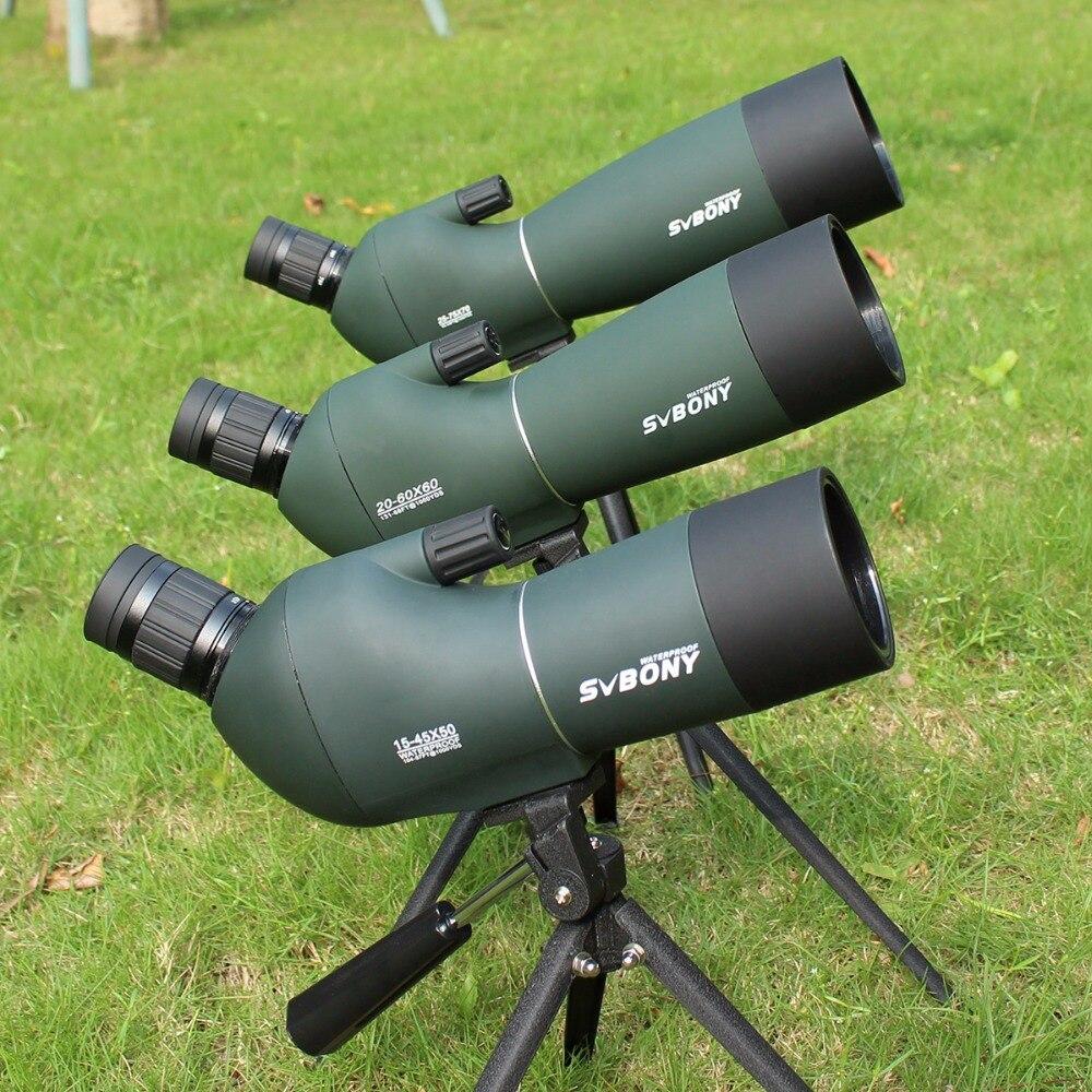 Telescopio SV28 telescopio Zoom 50/60/70mm impermeable Birdwatch caza Monocular y Universal adaptador de teléfono SVbonyF9308