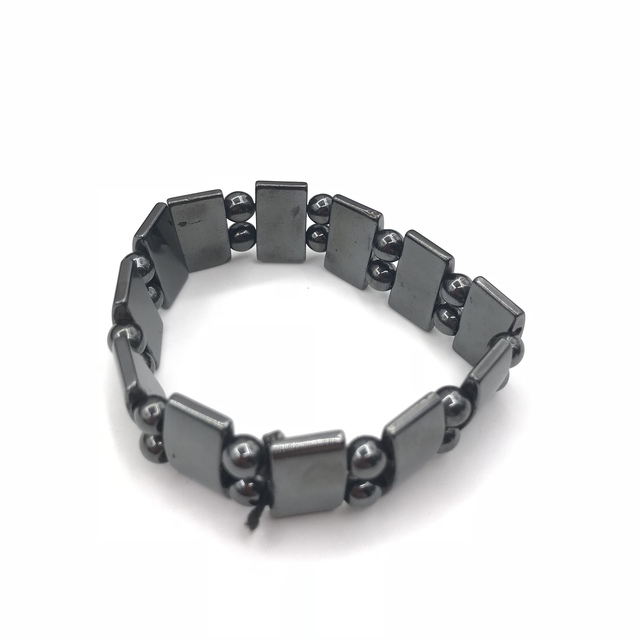 Adjustable Weight Loss Round Black Stone Magnetic Therapy Bracelet Health Care Luxury Slimming Product 3