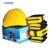 1 Gorro de Baño + 2 Anillos 2 Anillos de La Pierna Del Brazo Conjunto de Aprendizaje Niños Adultos de Natación Natación Segura Flotador