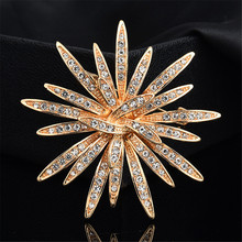Hot Plant Series Brooch Sunflower Brooches Corsage Women Girls Dress Clothes Decoration Jewelry Mother Gift crystal sunflower brooches lapel pins for women corsage scarf dress decoration