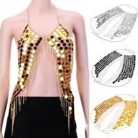 Hot Sex Mode Körperschmuck Black & Silver & Gold Farbe Körper Halskette für Sommer Strand Bikini Ferien Zubehör