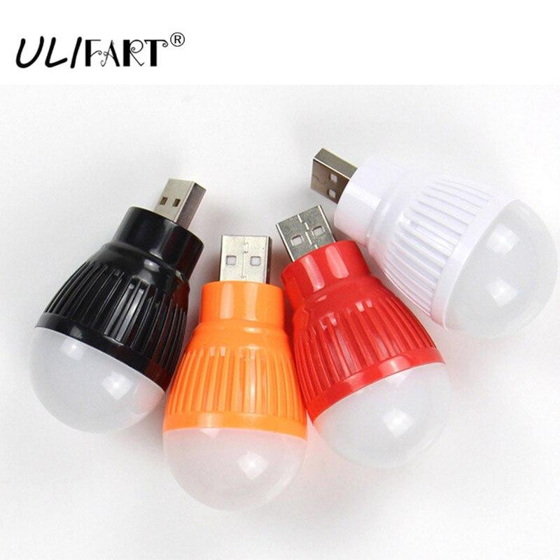 ULIFART Mini USB LED Bulb Portable Light Lamp Best Mini USB Powered Desk Bulb For Computer Laptop Notebook PC Desk Reading