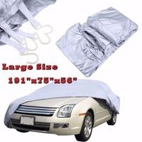 Large Size Waterproof Full Sun Dust Rain Protection Nylon PVC Auto Suv Car Covers Protective Car