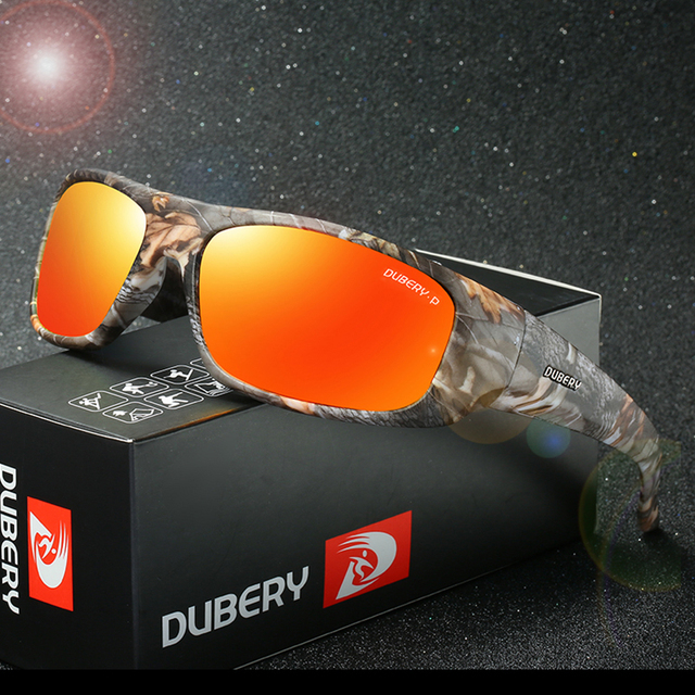 b3357a73fb3 DUBERY Men Camouflage Frame Polarized Sunglasses Sports Camo Fishing  Eyewear Cycling Bike Goggles Camping Hiking Sunglasses