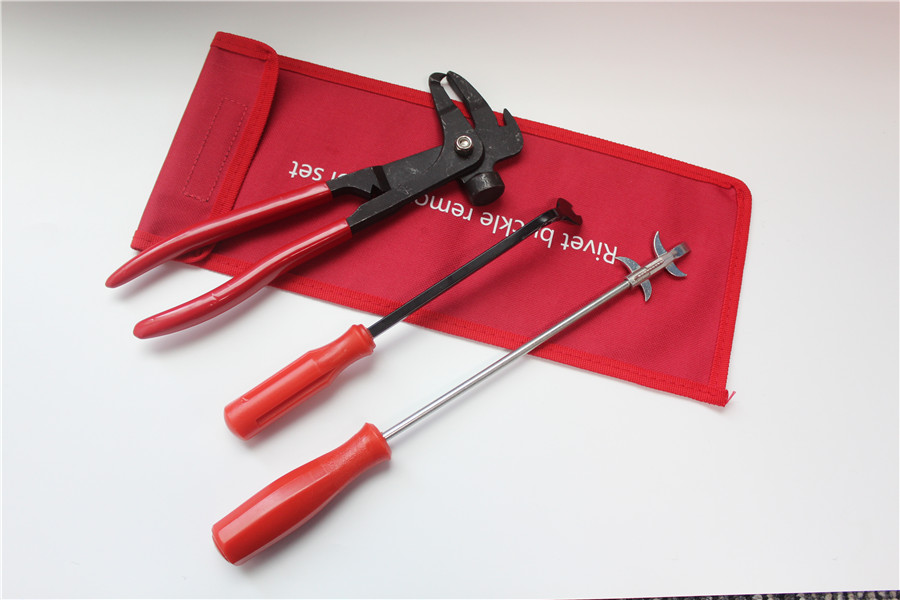 Red Wheel Weight Tire Mounting Hammer Pliers Tool