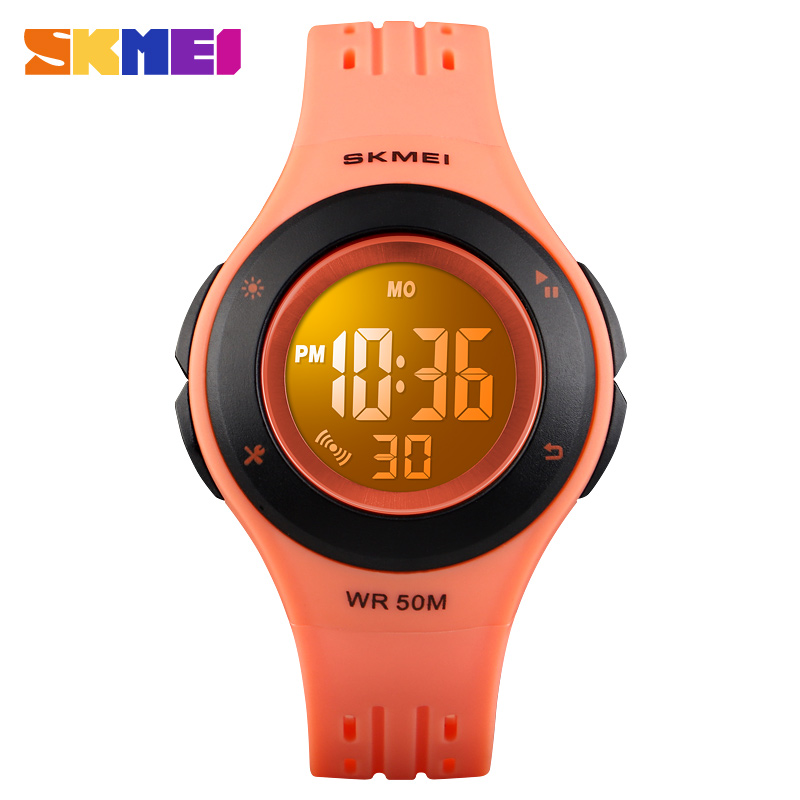 Watches For Kids LED Sport Style Children's Digital Electronic Watch Boys Girls Children Cartoon 50M Waterproof Watch SKMEI 2018