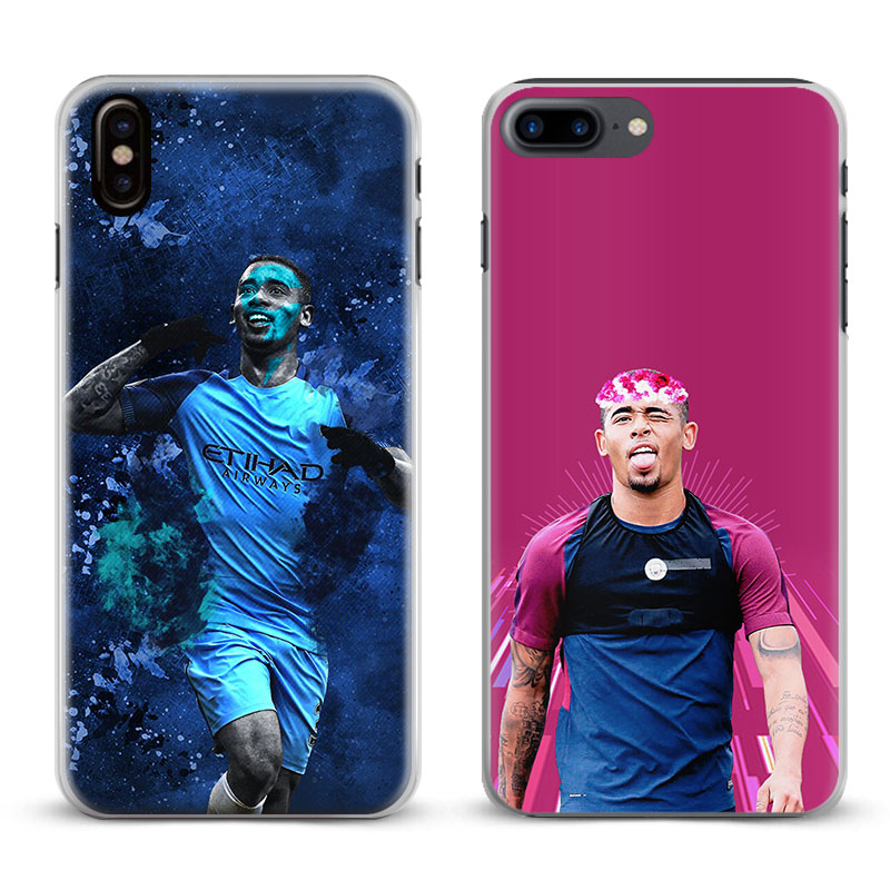Gabriel Jesus <font><b>33</b></font> Logo Coque Phone Case Cover Shell For Apple iPhone <font><b>X</b></font> 8Plus <font><b>8</b></font> 7Plus <font><b>7</b></font> 6sPlus 6s 6Plus 6 <font><b>5</b></font> 5S SE 4s 4