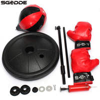 Adjustable Fitness Boxing Punch Pear Speed Ball Relaxed Boxing Punching Bag Speedbag For Kids Chirdren Glove