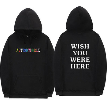 2018 Travis Scott Astroworld WISH YOU WERE HERE hoodies fashion letter print Hoodie streetwear Man and woman Pullover Sweatshirt