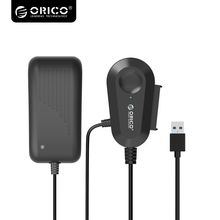 ORICO USB3.0 2.5 & 3.5 inch SATA External Hard Drive Adapter with Built-in 8 inch USB3.0 Cable For 2.5/3.5 HDD/SSD -Black35UTS