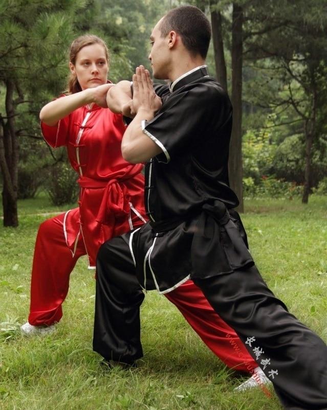 ZZB048 Kortärmade kläder Kungfu kostymer prestanda Tai chi kläder - Nationella kläder - Foto 2