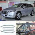 4pcs New Smoked Clear Window Vent Shade Visor Wind Deflectors For Honda Odyssey