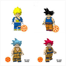 1pcs Dark Blue Anime Series Dragon Ball Role Toys For Kids Children's Toys Doll Figurine(China)