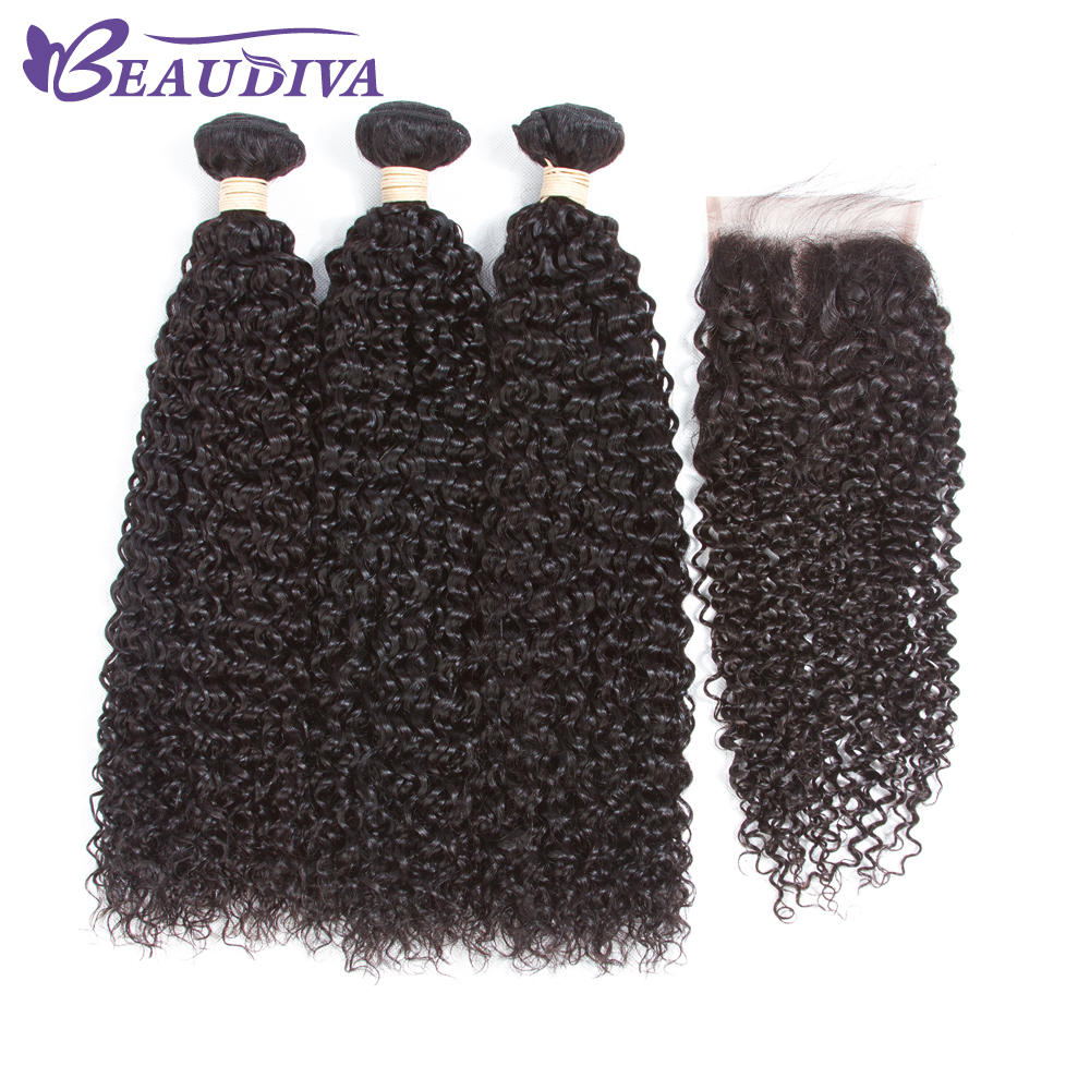 BEAUDIVA Hair BRAZILIAN Kinky Curly Hair Bundles 100% Human Hair Bundles 100g/pc Non Remy Hair Extensions Weaving Can Be Dyed