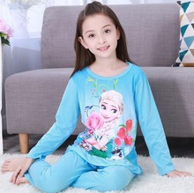 3-12 Years Children Pajama sets Cartoon kids Pyjamas Boys Girls Long Sleeve Pijamas For enfant child Cotton Clothes NS20