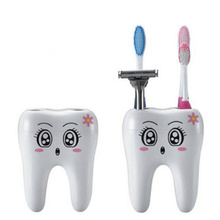 1PC Cartoon Plastic Toothbrush Holder Toothpaste Storage Rack Shaver Holder Bathroom Organizer Accessories New Arrival