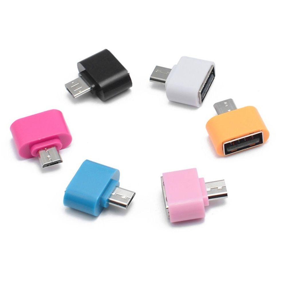 Nueva Venta Mini Otg Adaptadores Teléfono Móvil Tableta Lector De Tarjetas Micro Usb Flash Mouse Teclado Expansiones Colores Armoniosos