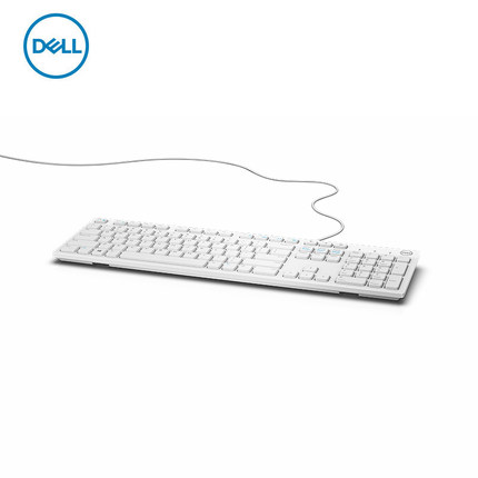 Dell KB216 keyboard computer desktop office all in one laptop home keyboard black / white with USB
