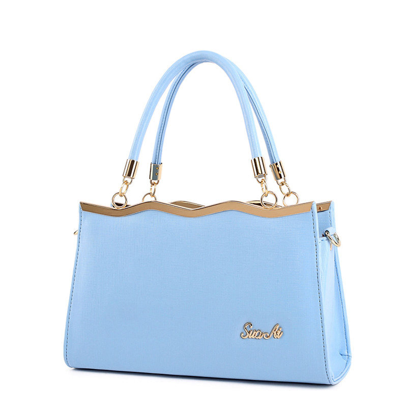 Women Ladylike font b Handbag b font Sweet Style Top Quality Hand Bag Gorgeous Plain PU