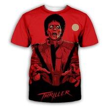 PLstar Cosmos Tee Shirt Homme Michael Jackson T Men hip hop T-Shirt Mens Shorts Streetwear Halloween shirt XS-7XL