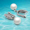 925 sterling silver pearl earrings,Korean version of the exaggerated  earrings