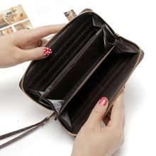 Vintage Long Women Leather Wallet