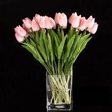 10 шт цветок тюльпана латексный настоящий сенсорный Свадебный букет декоративный лучшее качество цветы(Розовый тюльпан