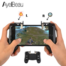 Купить с кэшбэком Pubg Mobile L1 R1 Dzhostiki For iPhone Phone Joystick Celular Phone Controller Shooting Gaming Smartphone Triggers Game Buttons