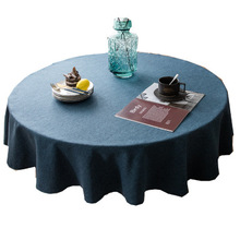 European and American style tablecloths, restaurant round households increase thicker solid color tablecloths