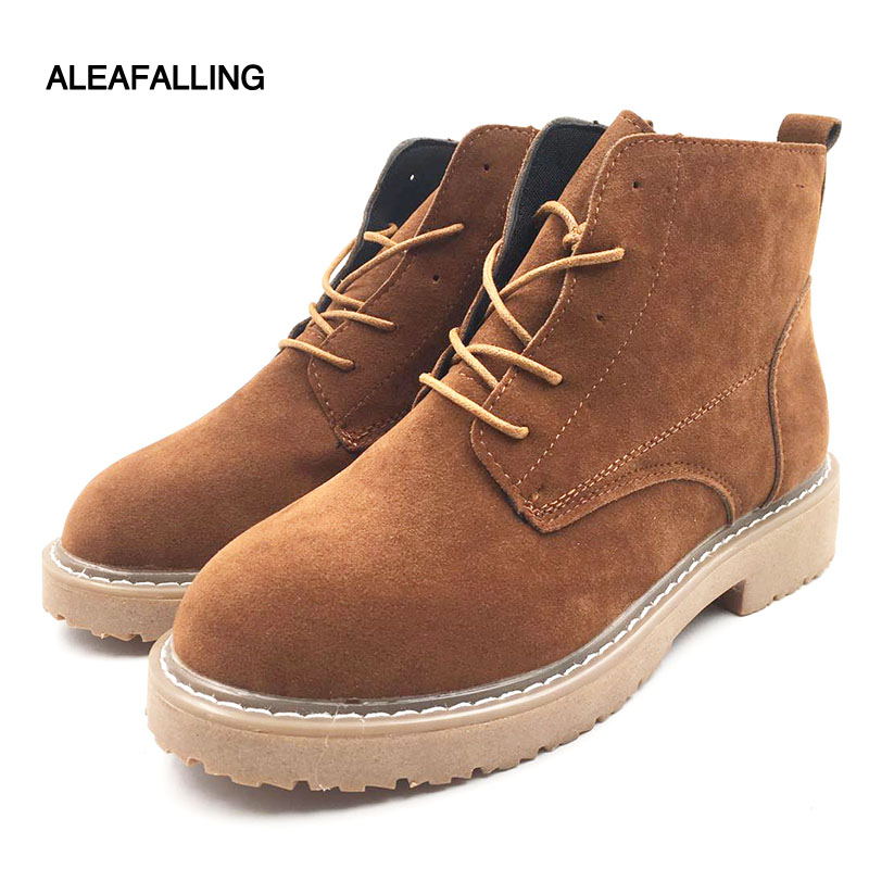 Aleafalling Women Motorcycle Boots Female Spring Autumn Fashion Woman Mature Boots -3481