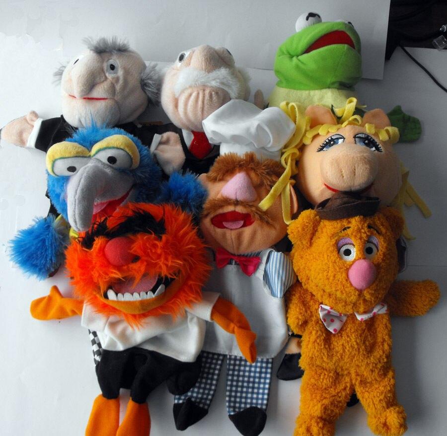 Bolinhas de pelúcia do chef miss piggy, fantoche de pelúcia com 28cm para crianças brinquedos das crianças