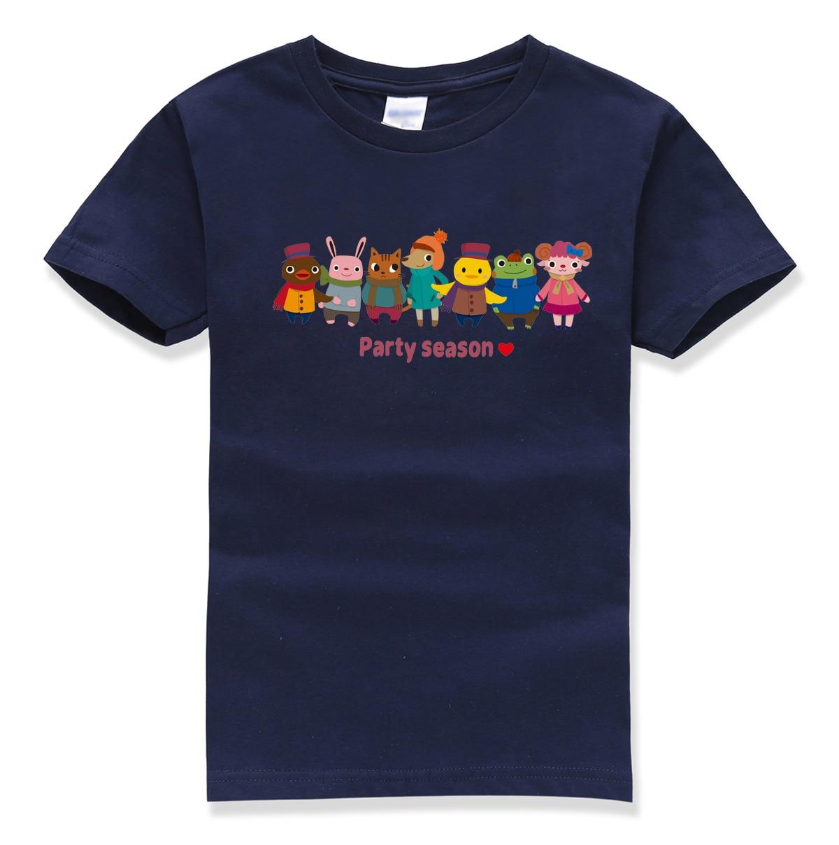 2018 летняя новая брендовая одежда детская рубашка вечерние сезон печати с коротким рукавом Забавные милые футболка детская футболка Homme Оде...