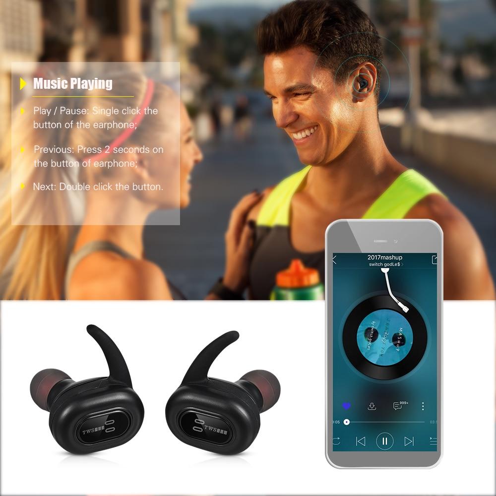 где купить Twins Waterproof TWS Mini Wireless Earphones Bluetooth invisible earbuds Sport Micro headsets stereo with Charging Case по лучшей цене