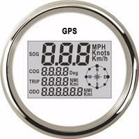 85mm Digital Speedometer Gauge 0~999 Knots MPH Km/h Adjustable Speed Gauge fit Marine Boat Car GPS Speedometer for BMW e46 Audi