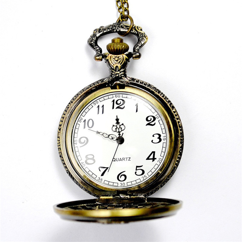 Fashion Vintage Pocket Watch Bronze Magic Wand Pendant Pocket Quartz Pocket Watch Necklace relogio masculino otoky montre pocket watch women vintage retro quartz watch men fashion chain necklace pendant fob watches reloj 20 gift 1pc