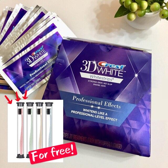 3D Whitestrips Luxe efectos profesionales higiene Oral blanquear los dientes cuidado Dental/5/10/20 tratamiento Original tiras en blanco