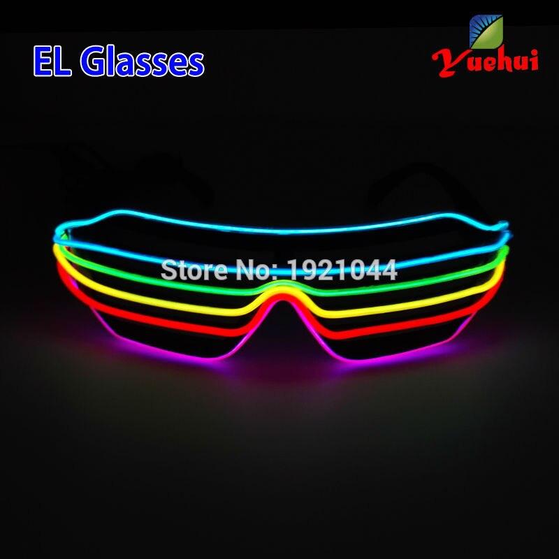 Novi očala Šest barvnih večbarvnih zvočno aktiviranih EL žic - Prazniki in zabave - Fotografija 6