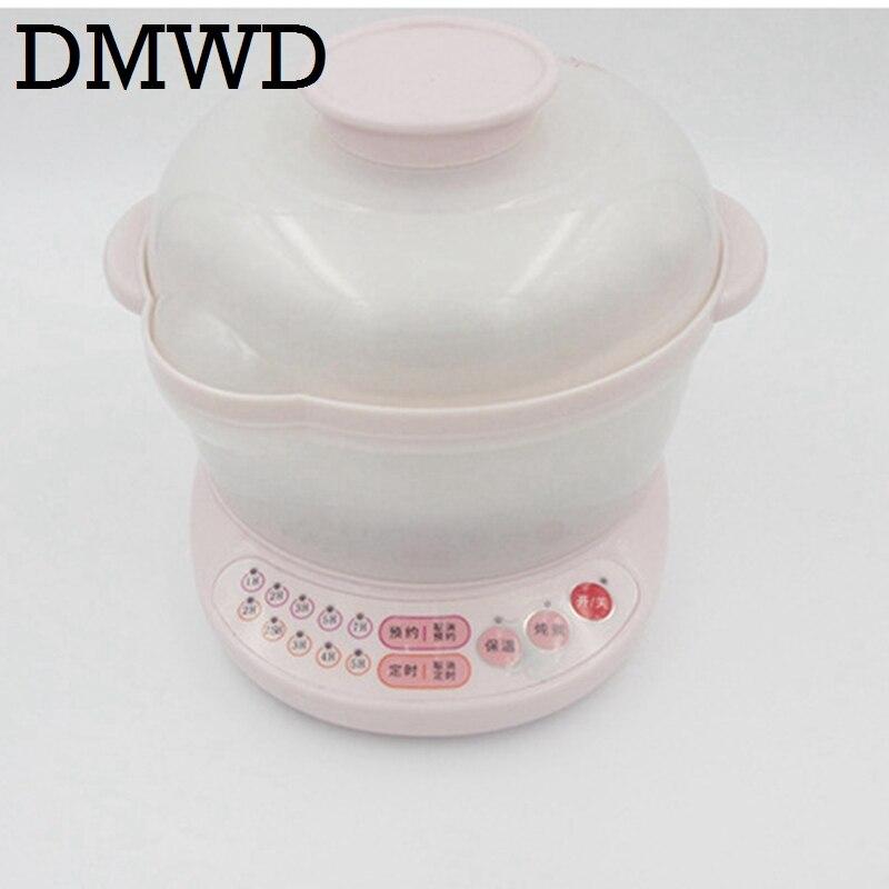 Dmwd Электрический тушеная горшок белый фарфор каша суп Многофункциональный антипригарное керамическое мини индукционная плита горячая поверхность 110 В 220 В