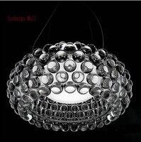 Dia35/50/65cm Modern Acrylic Caboche Pendant Lights Bedroom Pendente Lustres Pendente Para Sala 110 240V Restaurant Fixtures