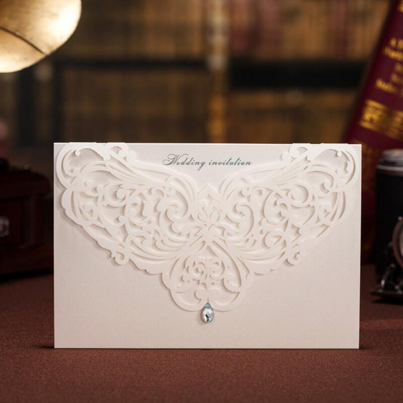 50 Pcs/pack New Classic Style Wedding Invitations Cards Custom with Rhinestone & Laser Cut Flower Customizable global elementary coursebook with eworkbook pack