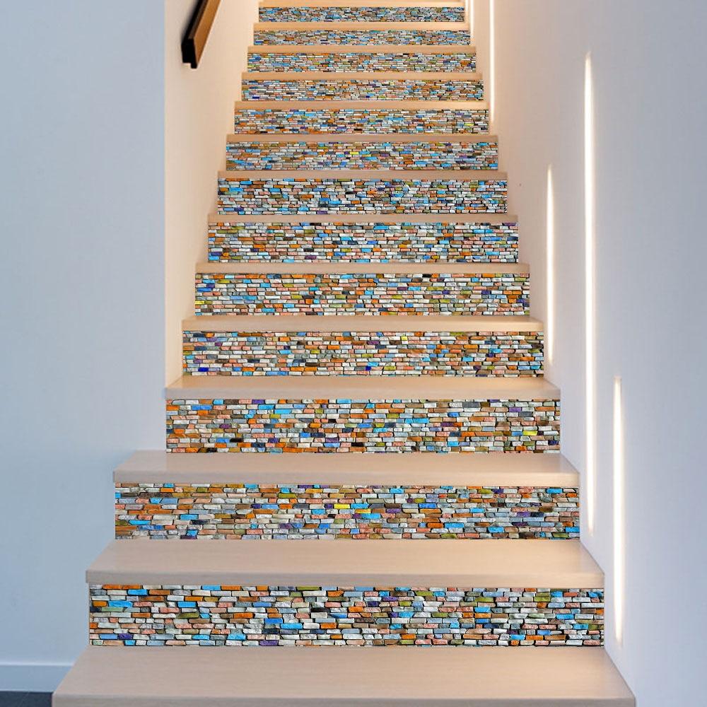 Tapeten 3d Pvc Tapete Aufkleber Grünen Topf Emoji Baum Selbst-adhesive Decor Diy Aufkleber Aufkleber Treppen Boden Fenster Küche Wand Aufkleber