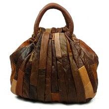 JOYIR Vintage Patchwork Luxus-handtaschenfrauen-designer Frauen Echtem Leder Handtaschen Tote Tasche Kupplung Bolsa Feminina 9417
