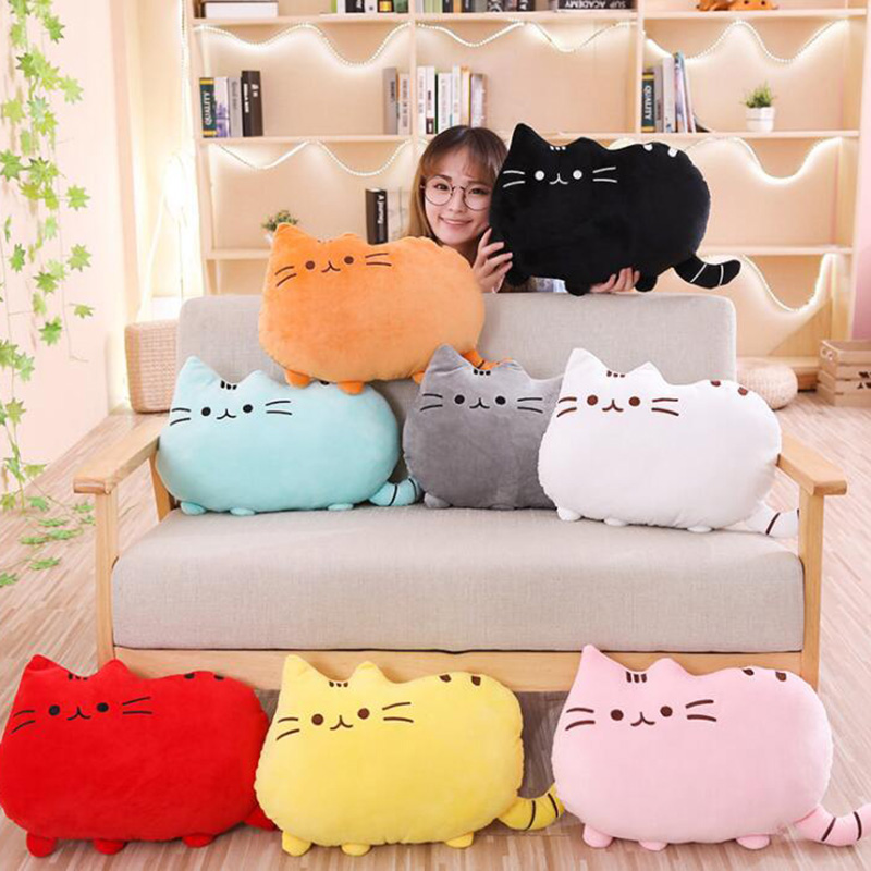 8 Colors Cute Fat Cat Baby Pillow 20/40 Cm Plush Toy  Dolls For Children High Quality Soft Cushion Cotton Brinquedos For Kids Gi