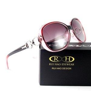 Image 4 - Fashion Polarized Sunglasses Women Glasses Leisure Shopping Polarized Driving Sun Glasses Rui Hao Eyewear Brand